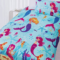 Mermaids swimming in fantasy under the sea designs