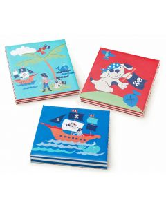 Ahoy There Pirate Set of 3 Wall Canvases