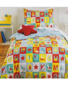 Animal Alphabet Quilt Cover Set
