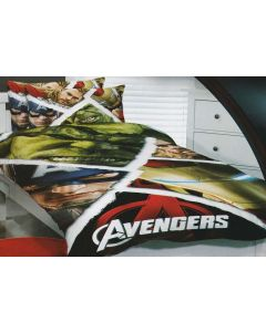 Marvel Comics superhero team, the Hulk, Captain America, Thor and Iron Man unite to create an epic superhero movie theme bedroom.