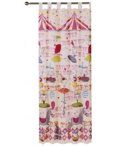 Circus Girls Tab Top Curtains