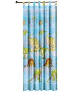 Dinosaur Tab Top Curtains