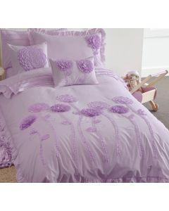 Floret Lilac Quilt Cover Set