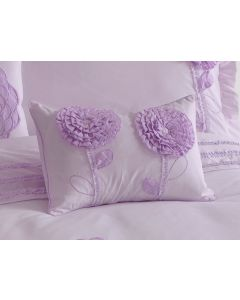 Floret Lilac Oblong Cushion