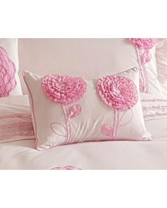 Floret Pink Oblong Cushion