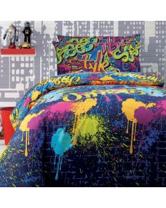 Graffiti Quilt Cover Set