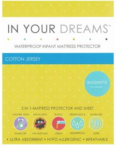 Bassinette Waterproof Infant Mattress Protector Cotton Jersey