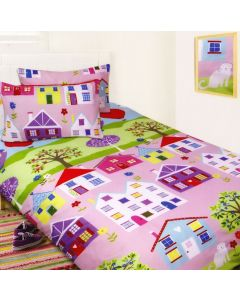 Lovely Houses Duvet Cover