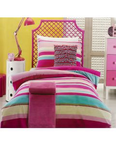Ruby Stripe Quilt Cover Set