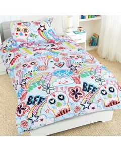 Scribble Skulls Quilt Cover Set