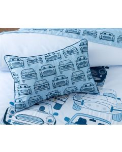 Stacked Cars Oblong Cushion