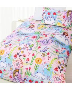 Swan Princess Quilt Cover Set
