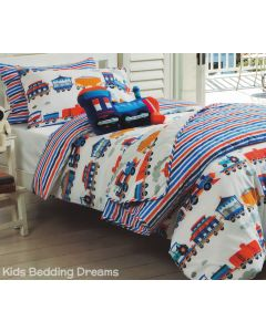 Train Trip Quilt Cover Set