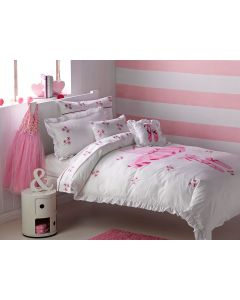 Little girls can dream of becoming a ballet dancer as they drift off into the land of nod with a luxury bedding set featuring exquisite embroidery.