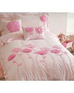 Floret Pink Quilt Cover Set