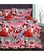 Retro Jungle Red Quilt Cover Set