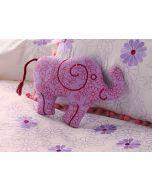 Wise Elephant Mini Shaped Cushion