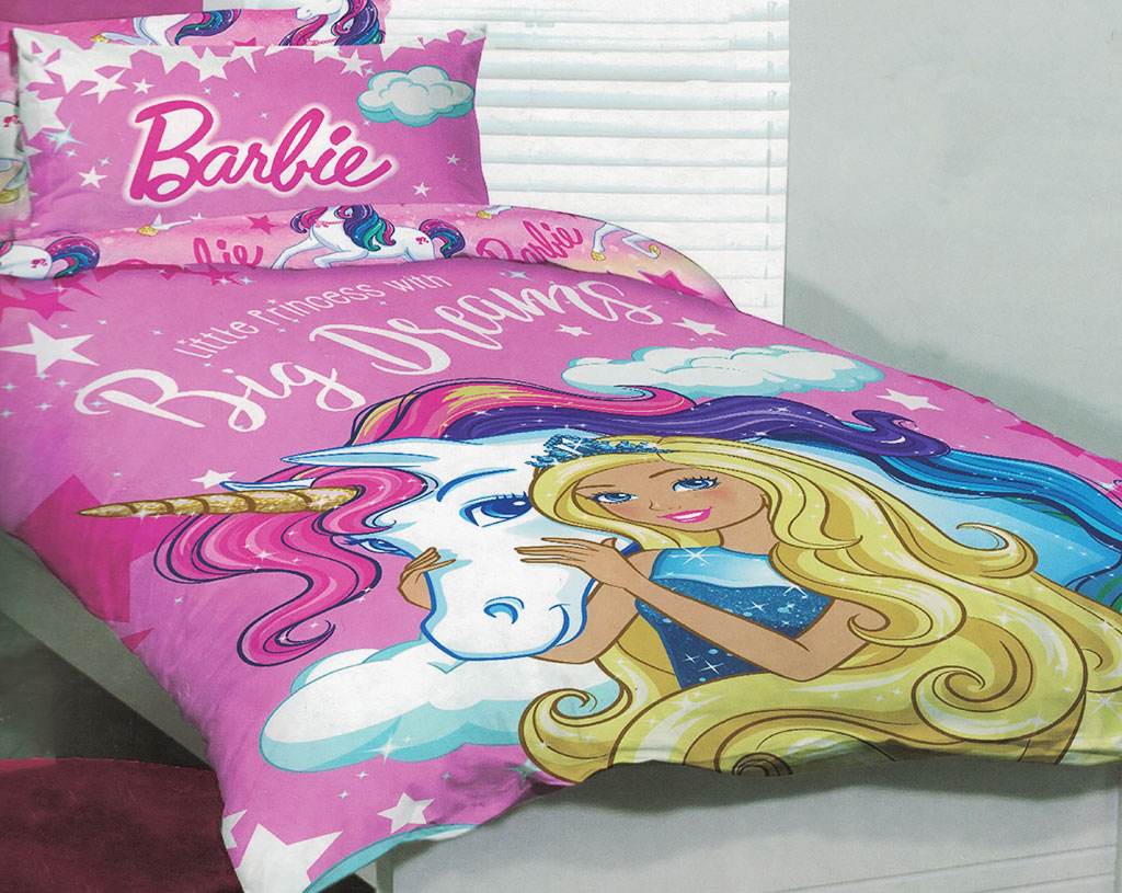 Make The Bedroom Sparkle With Barbie Sheets Kids Bedding