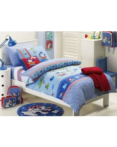 Ahoy There Pirate Quilt Cover Set