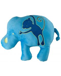 Animal Patch Elephant Cushion