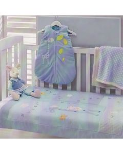 Baby Boy Blue Giraffe Cot Comforter