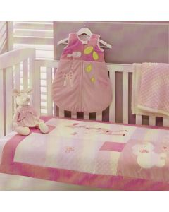 Baby Girl Pink Giraffe Cot Comforter