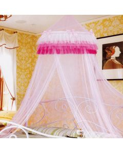Pink Ruffles Bed Net