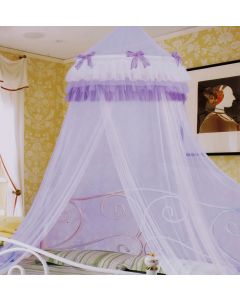 Purple Ruffles Bed Net