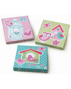 Birdcage Set of 3 Wall Canvases