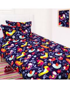 Bright Birds Duvet Cover