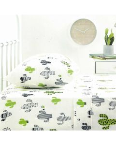 Cactus Flannelette Sheet Set