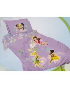 Disney Fairies Flowers Quilt Cover Set