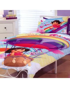 Dora Rainbow Fun Quilt Cover Set
