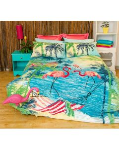 Flamingo Quilt Cover Set