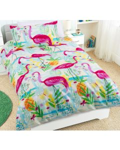 Flamingos Quilt Cover Set
