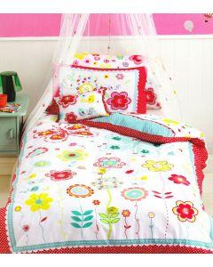 Floral Spot Quilt Cover Set