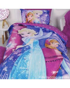 Frozen Sparkle Quilt Cover Set