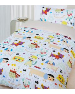 Happy Puppy Quilt Cover Set