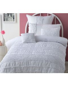 Jenni White Quilt Cover Set