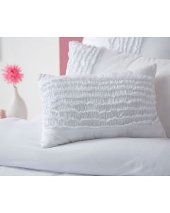 Jenni White Oblong Cushion
