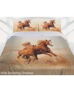 Mare and Foal Quilt Cover Set