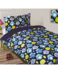 Owls Blue Duvet Cover