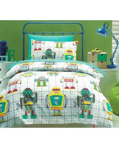 Wind up robots with dials, buttons, springs, antenna and computers will transform your child's bedroom into a sci-fi world of the future.