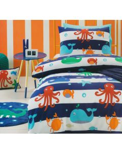 Sea Creature Quilt Cover Set