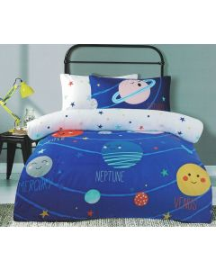 Planets in Space Quilt Cover Set