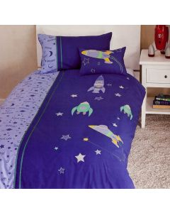 Spaceships Quilt Cover Set