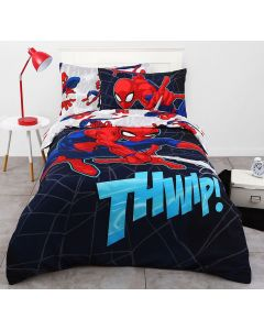 Spider-Man Flying Web Quilt Cover Set
