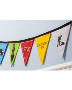 Under Construction Bunting Flags