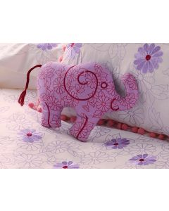 Wise Elephant Mini Shaped Cushion