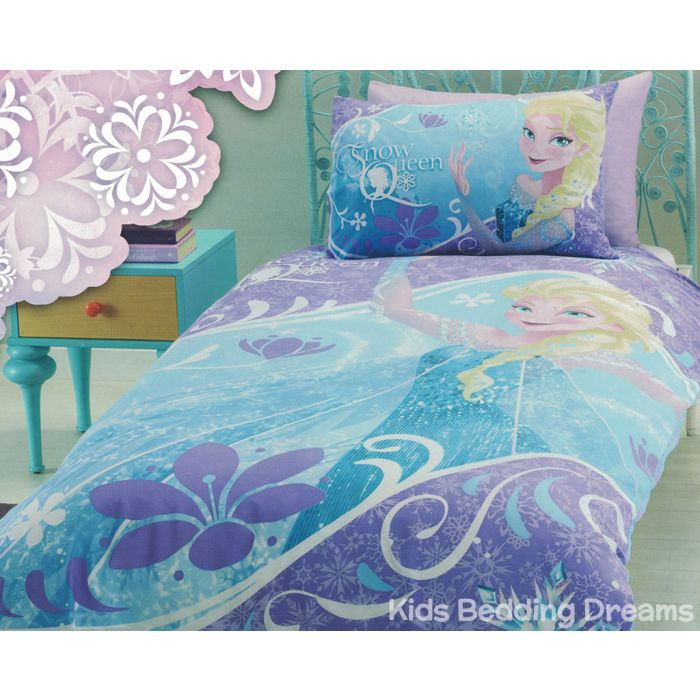 Elsa The Snow Queen Quilt Cover Set, Frozen Queen Bedding Set